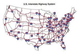 Map Of United States Interstates by U S Interstate Highway Map See The Usa In A Different
