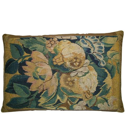 Tapestry Pillows by Antique Flemish Tapestry Pillow Circa 17th Century For