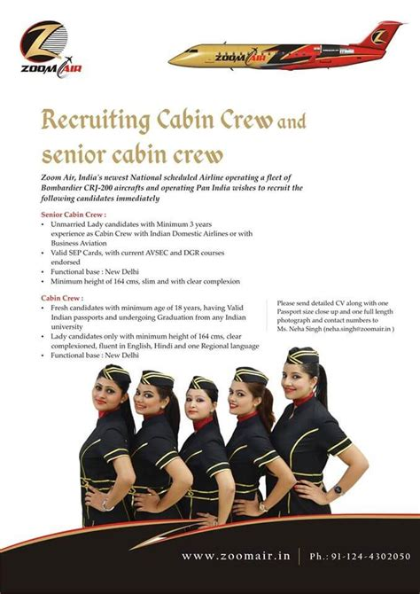 Cabin Crew Schedule by Zoom Air Cabin Crew Recruitment Ifly Global