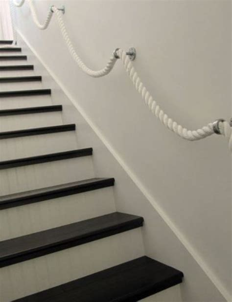 rope banister rail 30 stylish staircase handrail ideas to get inspired digsdigs