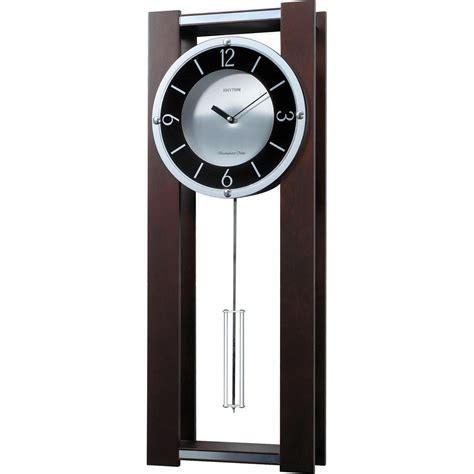 Modern Wall Clock by Rhythm Wsm Espresso Ii Wooden Musical Clock Cmj541ur06