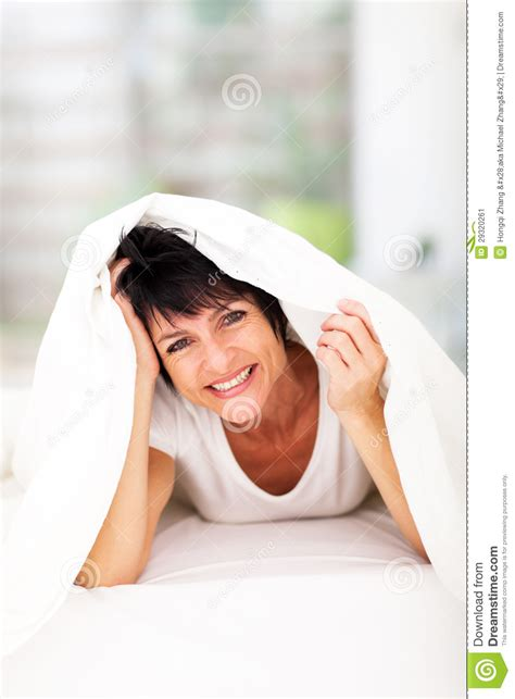 middleage woman fun fun woman duvet stock image image 29320261