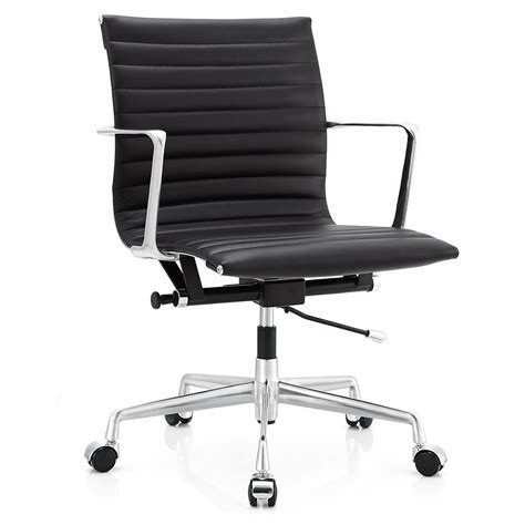 marquis black leather modern office chair eurway