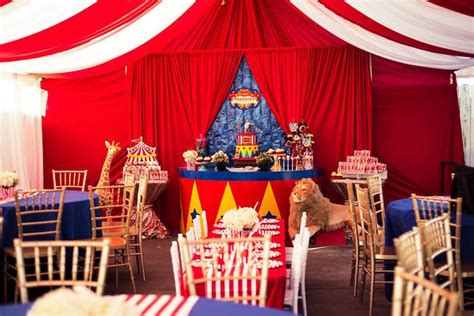 Circus Tent Decorations by Kara S Ideas The Big Top Circus Birthday