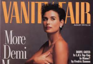 1991 vanity fair cover featuring demi named