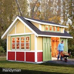 shed plans storage shed plans the family handyman what s important about designs for garden sheds shed