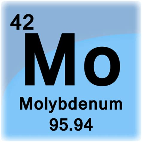 molybdenum element cell science notes and projects