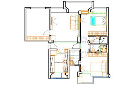3 bhk house plan 3 bhk house plan dwg file