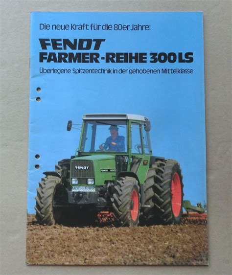 Ls Ebay by Fendt Farmer 305 Ls 309 Ls Schlepper Original 1980 Ebay