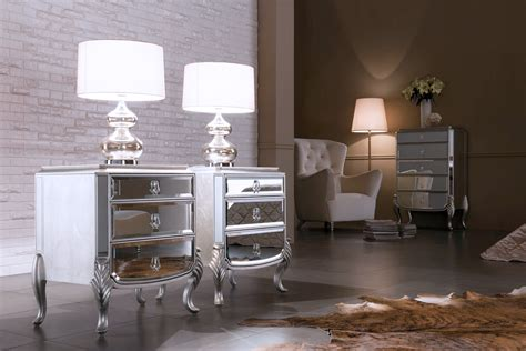 mirrored bedroom furniture canada mirrored nightstand florentine