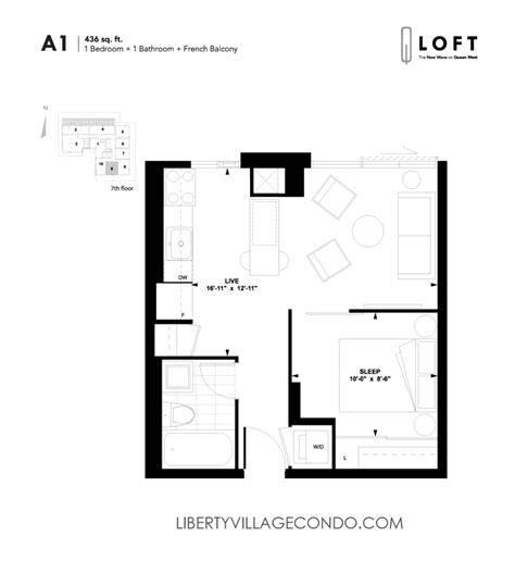 1 bedroom with loft floor plans q lofts 1205 queen st w liberty village condo