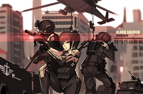 anime soldier girl wallpaper anime military soldier www pixshark com images