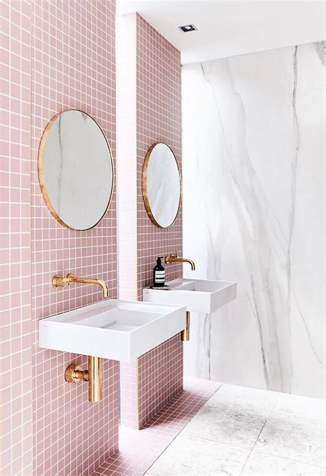 pink tiles bathroom best 20 pink bathrooms ideas on pinterest pink
