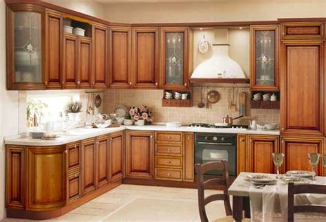 kerala model wooden kitchen cabinet designs wood