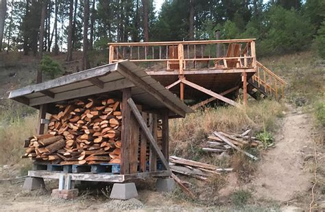 diy firewood storage shed plans pure living  life
