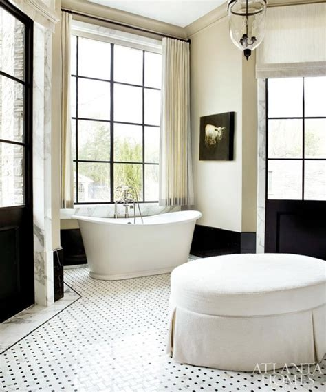 houzz black and white bathroom black and white bathroom in atlanta homes traditional