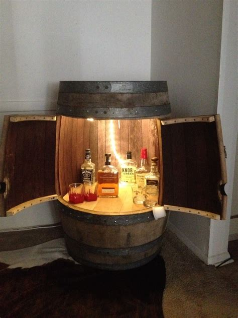 wine barrel liquor cabinet 8 best images about bourbon barrel cabinet on pinterest