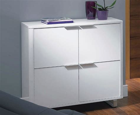 White Gloss Living Room Storage White High Gloss 4 Door Storage Unit Uk Delivery