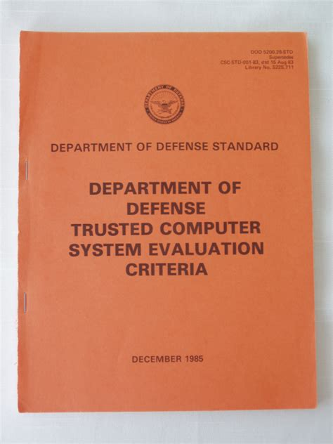 trusted books trusted computer system evaluation criteria