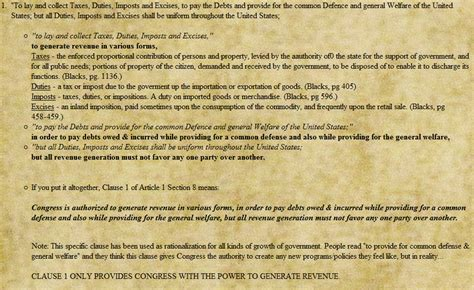 section 1 of the constitution article 1 section 8 explained less than unique