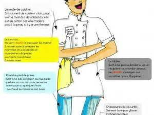 la tenue professionnelle en seconde pro cuisine par