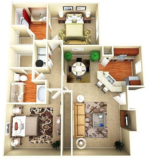cheap 3 bedroom house plans interior design ideas 25 best ideas about condo floor plans on pinterest sims