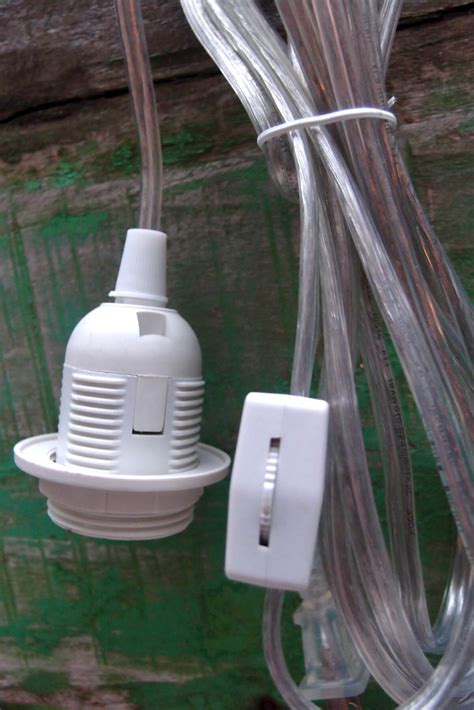 christmas light socket cord pendant light cord standard socket e26 e27 11 indoor clear cord