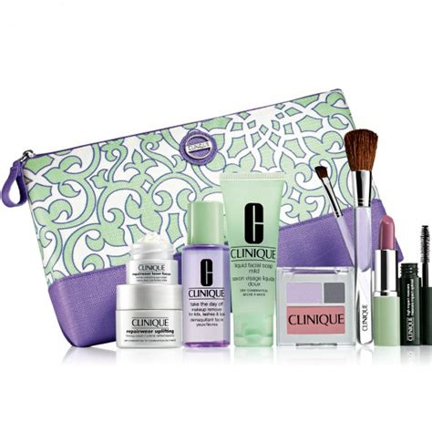 Clinique Counter skincare and makeup freebies when you buy two products at