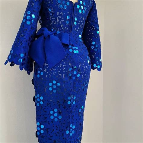 elegant lace iro and buba styles bejewelled komole iro and buba in royal blue daisymotif