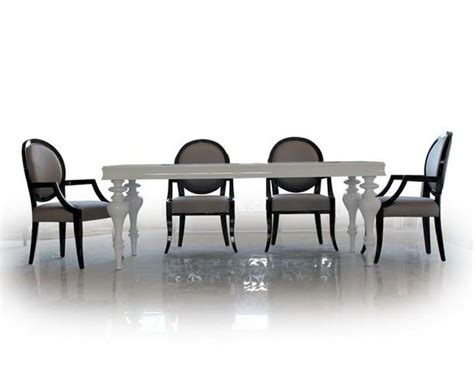 Lacquer Dining Table Sets Dining Set W White Lacquer Table 44ds212 Set