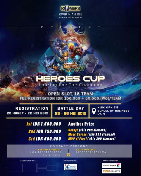 heroes cup mobile legend    champion