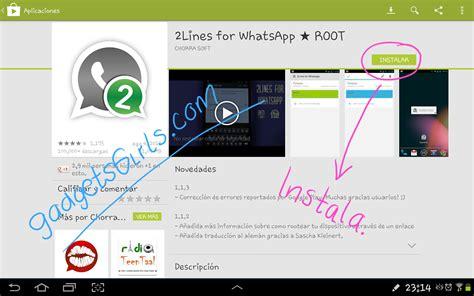 tutorial 2lines for whatsapp aplicaci 243 n 2 lines for whatsapp