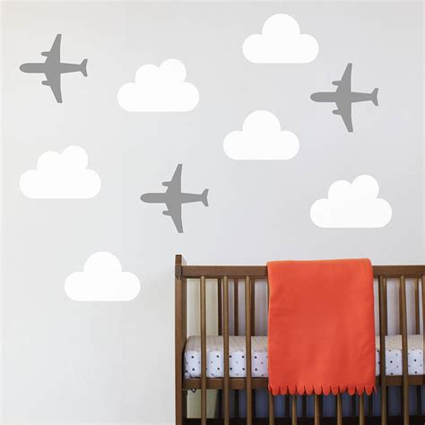 aeroplane wall stickers set of three aeroplane wall stickers by chip