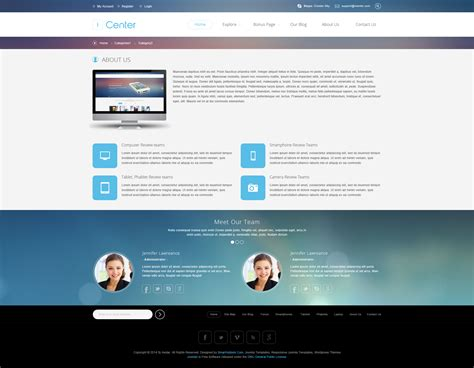 about page template preview sj icenter responsive template for easyblog