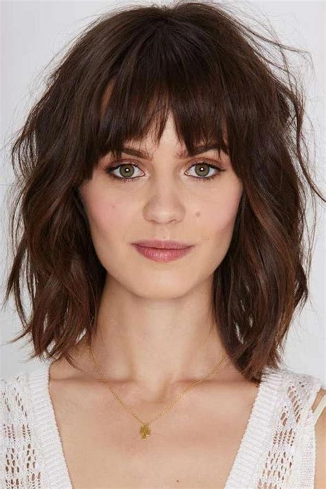 Bangs For Oblong Faces And Thick Hair | what bangs for oval faces with thick long hair 15 best