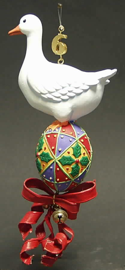department 56 twelve days of christmas ornament six geese