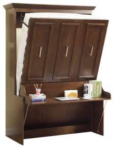 Murphy Bed With Two Beds Portrait Wall Bed Desk Walnut Modern Murphy