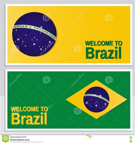 draggable card website template welcome to brazil set of patriotic banner for website