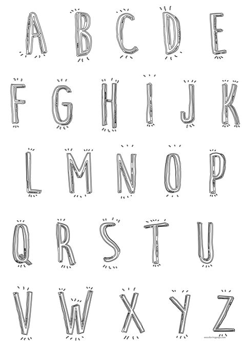 cute letter coloring pages cute cartoon alphabet coloring page wecoloringpage