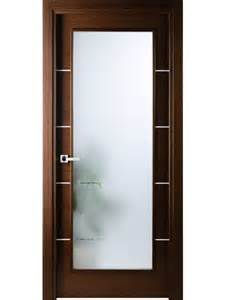 italian wenge interior single door w frosted glass