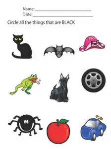 kids worksheets black objects