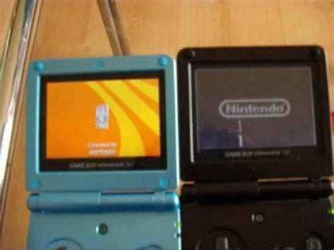 game boy advance model ags 101 differences gba sp ags 001 vs ags 101 youtube