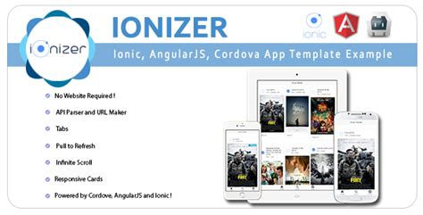 phonegap templates for android free ionizer ionic angularjs cordova app template