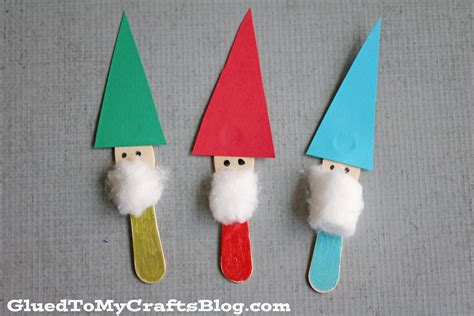 crafts for scoop stick garden gnomes kid craft glued to my crafts