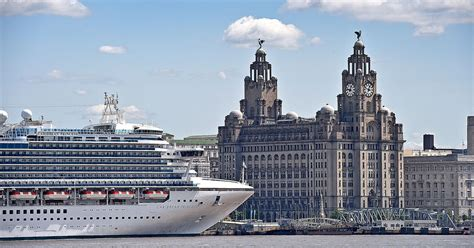 princess cruises from liverpool caribbean princess cruise ship is back in liverpool