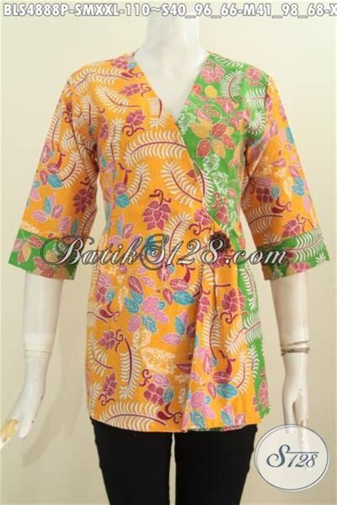 Dress Batik Kimono Model Trendi blus batik modern model kimono baju batik trendy warna