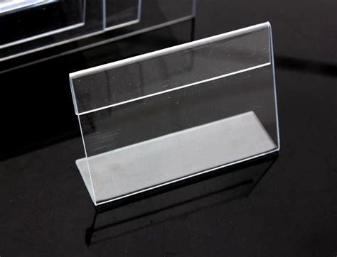 Label Name Plate Display Stand Acrylic Akrilik Model Tenda 20x7 Cm 8 12cm table tablet sign label frame stands acrylic price