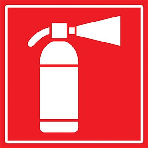 Industrial Fire Safety Decal   24? x 24? Square Vinyl Signage