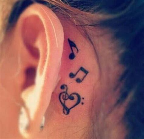 music note tattoo behind ear 60 pretty designs of ear tattoos 2017