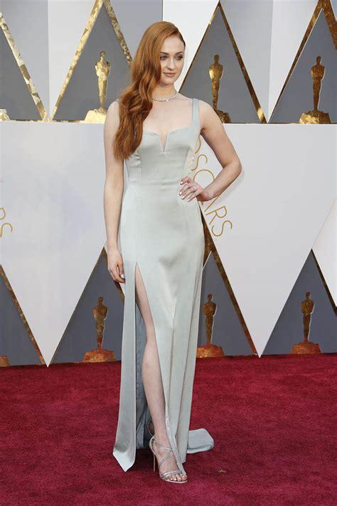 Sophie Turner Celebrity Evening Prom Dress Oscars 2016 Red Carpet   StarCelebrityDresses